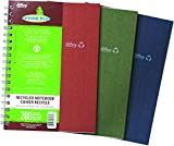 Hilroy Enviro-Plus Recycled Notebook, 9-1/2 X 6 Inches, College Ruled, 200 Pages, Assorted Color Covers (13032)