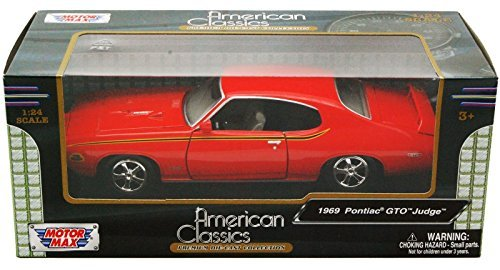 Pontiac Gto Model - Pontiac GTO Judge, orange , 1969, Model Car, Ready-made, Motormax 1:24