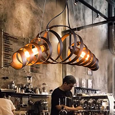 Lightinthebox Retro Bar Iron Chandelier Light Modern Minimalist Industrial Style Spiral Lighting Lamp