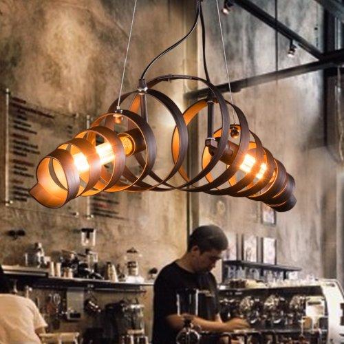 Lightinthebox Retro Bar Iron Chandelier Light Modern Minimalist Industrial Style Spiral Lighting Lamp (Bar Chandelier Light 7)
