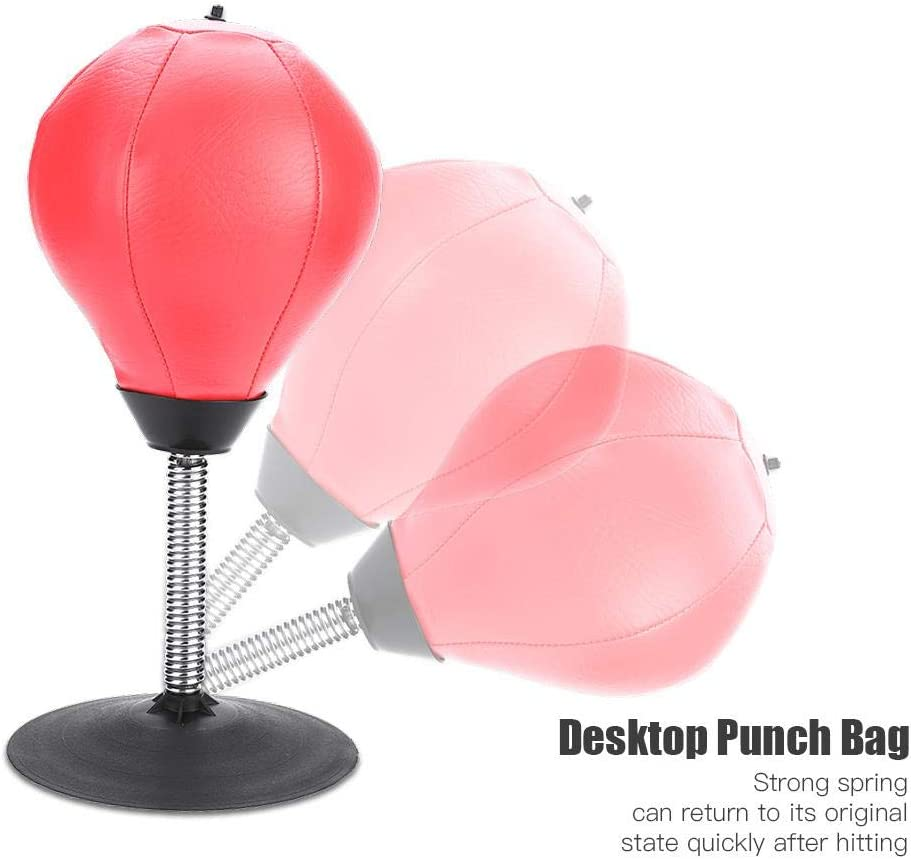 Alomejor Punching Ball de Bureau Sac De Frappe Poires de Vitesse Sac de Boxe Anti-Stress Anti Frustration Sac de Vitesse Gonflable Entra/înement Boxe Vitesse et Activit/é D/écompression