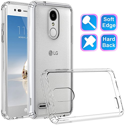 LG Tribute Dynasty Case, LG Aristo 2 Case, LG Zone 4 Case, LG K8 2018 Case / K8+ K8 Plus, LG Fortune 2 Case, GSDCB Shockproof Phone Protective Case with Hard PC Soft TPU for Women Men Girl Boy (Clear)