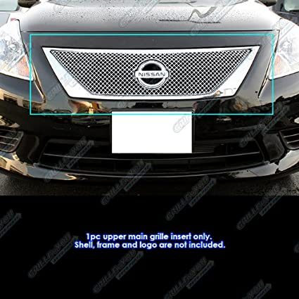 APS NX5907S Chrome Grille Bolt Over for select Nissan Versa Models