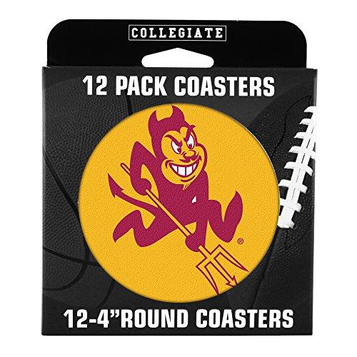 Devils Coaster Set (NCAA Arizona State Sun Devils Pulpboard Coasters, Set of 12)