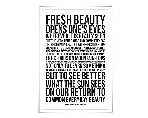 John Muir Quote Art Print Available In 60 Colours And 3 Sizes made our list of Inspirational And Funny Camping Quotes