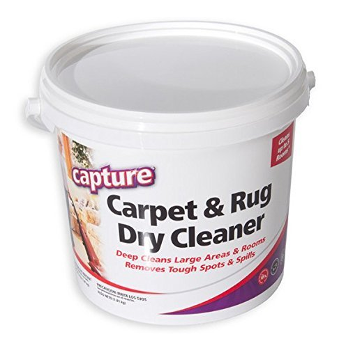 Capture Carpet Dry Cleaner Powder 4 Pound - Resolve Allergens Stain Smell Moisture from Rug Furniture Clothes and Fabric, Mold Pet Stains Odor Smoke and Allergies Too
