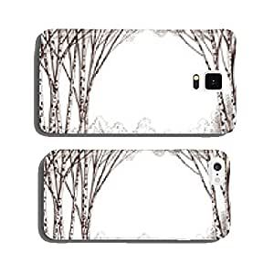 Birch tree forest, graphic background cell phone cover case Samsung S5