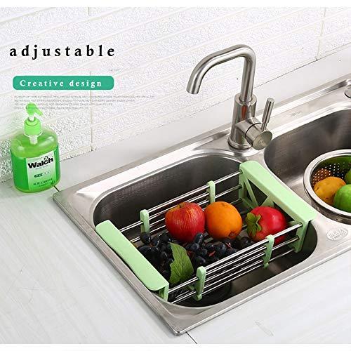 Storage Holders & Racks - Best Creativity Large Sink Dish Drainer Vegetable Fruit Drying Rack Washing Holder Organizer Tray Drain Basket Kitchen Tools - by Zallada - 1 PCs
