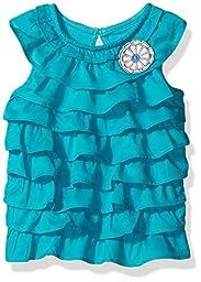 Gymboree Girls\' Turquoise Ruffle Tank, Synergy, 12-18 Months
