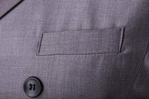 Slim Fit Elegante Tuta 88 Bobo Da Vest Blazer Matrimonio Uomo Tuxedo Grau Vestibilità Gilet Moderna v1XnXx