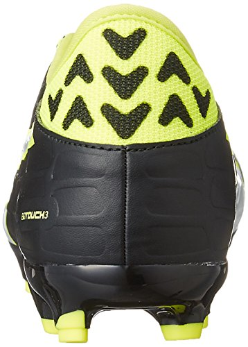 Puma , Herren Fußballschuhe Black-White-Safety yellow