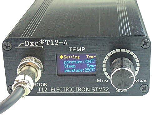110V 220V OLED Digital Soldering Iron Station /& T12 Handle Finished Controller