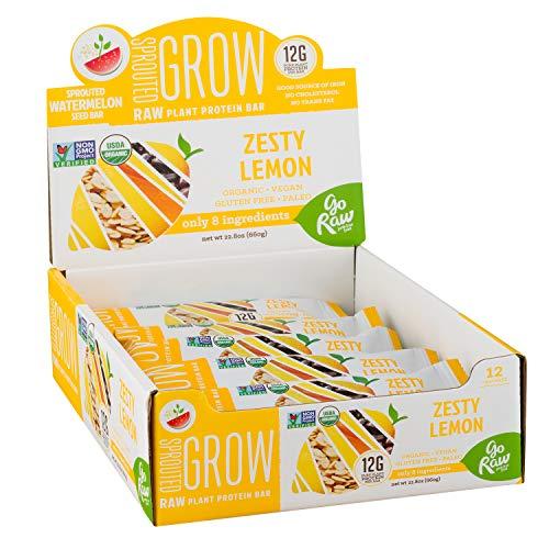 Go Raw Organic Superfood Protein Bars, Zesty Lemon (case of 12 bars)