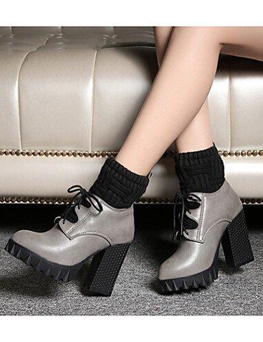 Comfort Cn39 Stiletto Exterior us8 De Negro Uk6 Gray Cn35 5 Xzz Zapatos Gray Mujer Semicuero Eu39 5 Tacón Eu36 Uk3 us5 Botas Gris FZXpn
