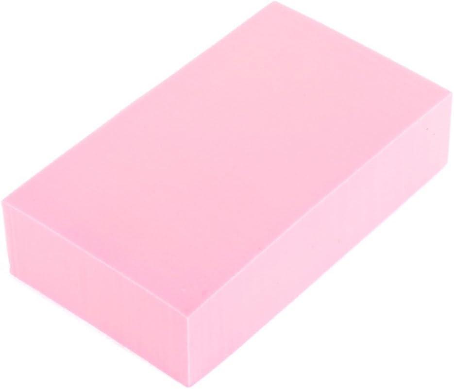 PVA rectángulo del hogar Utensilios de cocina Cuenco Plato de lavado de limpieza Pink Pad