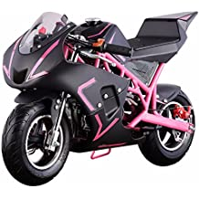 4-Stroke 40CC Kids Gas Pocket Bike (EPA Registered, NO CA sales), Pink/Black