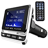 FM Transmitter, Tinzzi Bluetooth Receiver MP3 Player Wireless In-Car Stereo Radio Adapter Car Kit with Hands Free Calling,USB Charger, and Remote Control