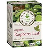 2 Packs of Traditional Medicinals Organic Raspberry Leaf Herbal Tea - Caffeine Free - 16 Bags