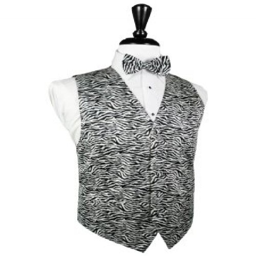 Safari Zebra Tuxedo Vest and Bow Tie Size 5XL