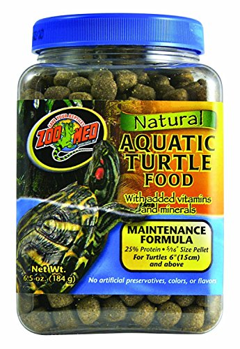 Zoo Med Natural Aquatic Turtle Food – Maintenance Forumla 6.5 Ounce For Aquatic Turtle