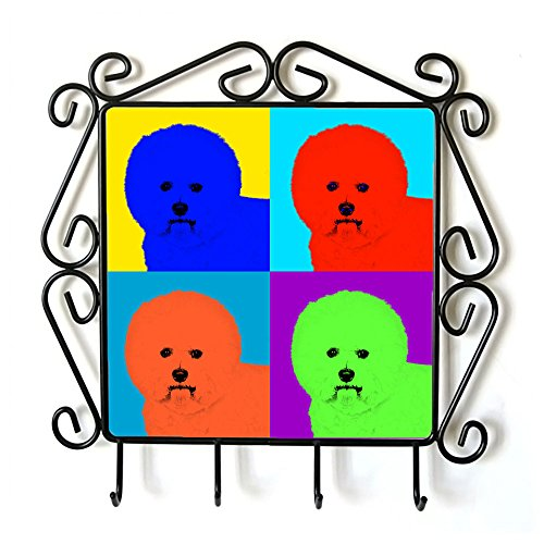 Bichon, Clothes Hanger with an Image of a Dog, Andy Warhol Style by Art Dog Ltd.
