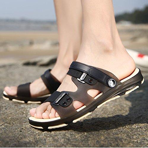Xing Lin Sandalias De Hombre Sandalias De Tamaño Grande A Estudiantes Varones Tendencia Juvenil De Verano Sandalias De Verano Sandalias Zapato Abierto Marea black