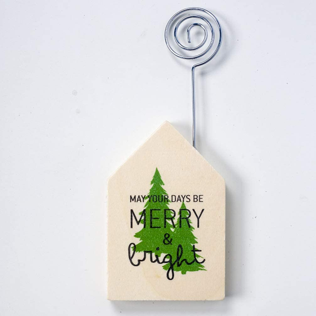 10pcs Xmas Tree Wedding Table Place Name Card Stand Memo Card Holder Clips