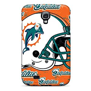 Galaxy S4 KLY6666DpRp Support Personal Customs HD Miami Dolphins Image Anti-Scratch Hard Phone Case -no1cases