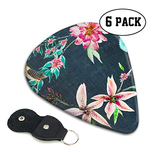 Flower Beds And Owls Small Medium Large 0.46 0.71 0.96mm Mini Flex Assortment Celluloid Top Classic 351 Rock Electric Acoustic Guitar Pick Accessories Variety Pack Collectors