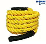 Leeway 1.5' Width Avail. In 30FT / 50FT Length Undulation Rope Exercise Fitness Workout Strength Training GYM Climbing Battle Rope; Core Training; Battle Rope (30)