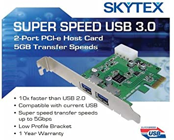 Amazon.com: SKYTEX 2 puertos SuperSpeed USB 3.0 PCI-E ...