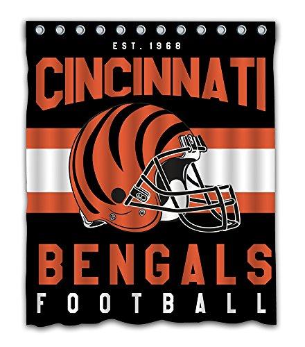 Cincinnati Bengals Game - Sonaby Custom Cincinnati Bengals Waterproof Fabric Shower Curtain For Bathroom Decoration (60x72 Inches)