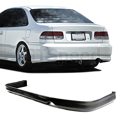 1996, 1997, 1998 Honda Civic 2dr/4dr Rear Type-r Style Bumper Spoiler Lip Pu (Honda Civic 2dr Type)