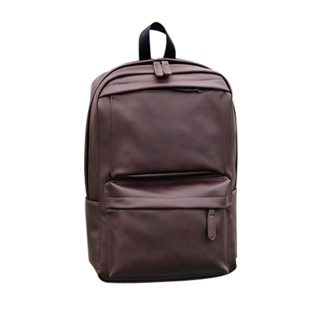 Tootu Men s Women s Leather Backpack Laptop Satchel Travel School Rucksack  Bag good 6accf80a87
