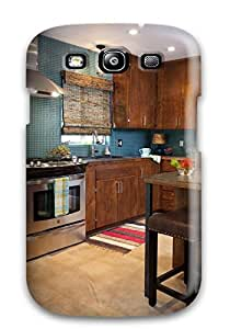 Forever Collectibles Kitchen With Teal-colored Mosaic Tiles And Stained Cabinets Hard Snap-on Galaxy S3 Case