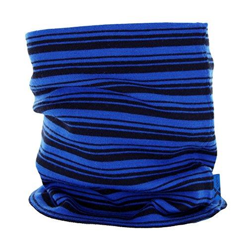 - Woolx Unisex Merino Wool Neck Gaiter For Men & Women - Warm and Soft - Cobalt Stripe