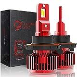 LIGHTENING DARK 10000 Lumens H13 LED Headlight Bulbs, CREE Chips Hi/Low Conversion Kit,6000K Cool White - 360°Adjustable Beam Pattern