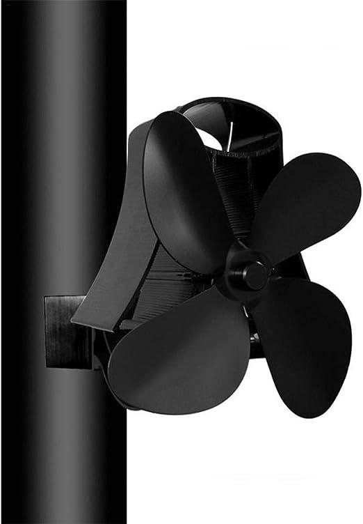 Faviye Ventilador para Chimenea de Pared 4 Ventilador magnético de Alta Temperatura para Horno de leña Ventilador de Horno para leña/Estufa de leña/ Chimenea: Amazon ...