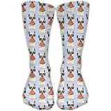 Glasses Alpaca Eat Watermelon Casual Running Long Socks Novelty High Athletic Sock Unisex