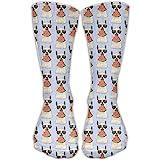 Glasses Alpaca Eat Watermelon Casual Running Long Socks Novelty High Athletic Sock Unisex