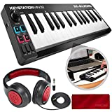 M-Audio Keystation Mini 32 II - MIDI Controller with Samson Headphones Accessory Bundle