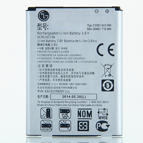 Lg Li Ion Battery >> 2100mah 3 8v Rechargeable Li Ion Battery Compatible With Lg Optimus L70 D320 Bl 52uh