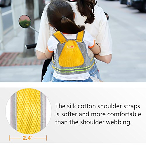 Jolik Child Motorcycle Safety Harness with 4-in-1 Buckle, Breathable Material in Yellow by Jolik (Image #7)