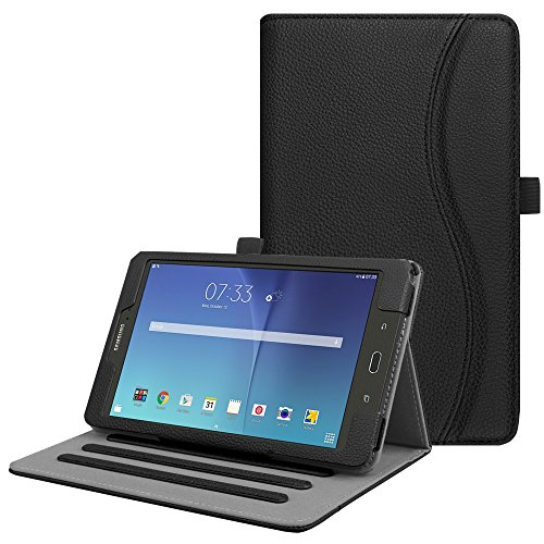 Fintie Case for Samsung Galaxy Tab E 8.0, [Corner Protection] Multi-Angle Viewing Stand Cover with Packet for Galaxy Tab E 32GB SM-T378 / Tab E 8.0-Inch SM-T375 / SM-T377 Tablet, Black