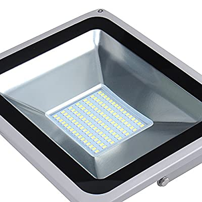 Zyurong® 2 Pcs 100W IP65 Waterproof Outdoor Security SMD LED Flood Light Spotlight High Powered with LED Cool White