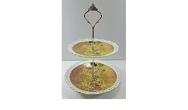 Queen - Soporte de cocina con 3 estantes (para magdalenas y pastas) diseño  de obra de Gustav Klimt  Amazon.es  Hogar f17ce14c7f65