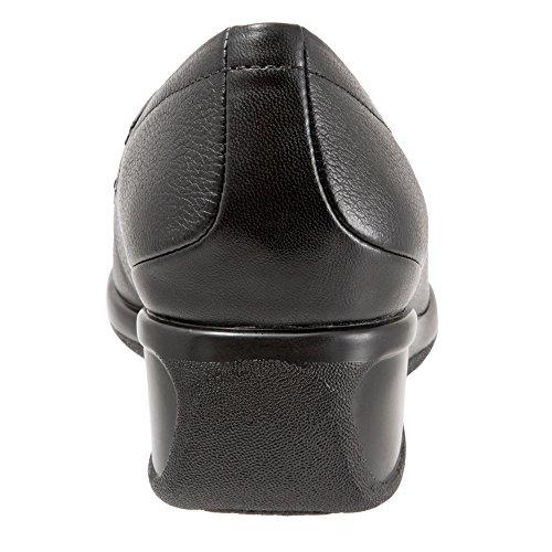 Trotters Marche Women's Tumbled Wedge Leather Pump Black UrUzSwxq5