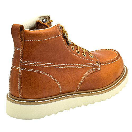 Golden Fox Men's Premium Leather Soft Toe Light Weight Industrial Construction Moc...