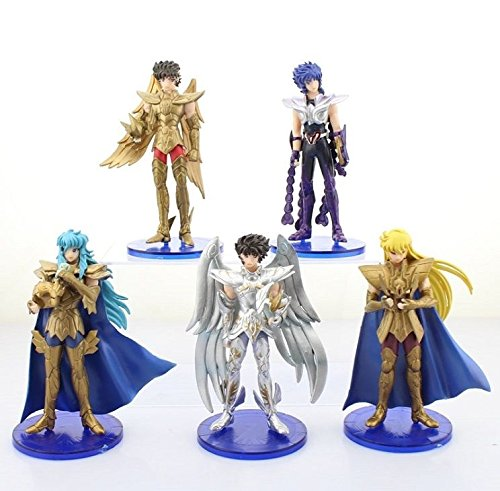 Saint Seiya Armor Costume (Saint Seiya white wings set of 5pcs figure PVC figures doll dolls anime collect)