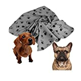 Tuscom Pet Dog Puppy Cat Mat Soft Fleece Blanket Quilt Bed Cushion Pad (M, Gray)